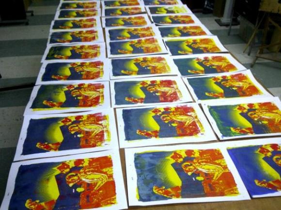 35 screen printed posters
