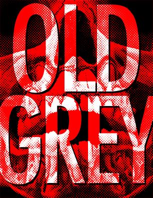 Old Grey sticker design